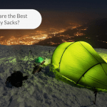 Picture of a bivy sack on a snow covered ground