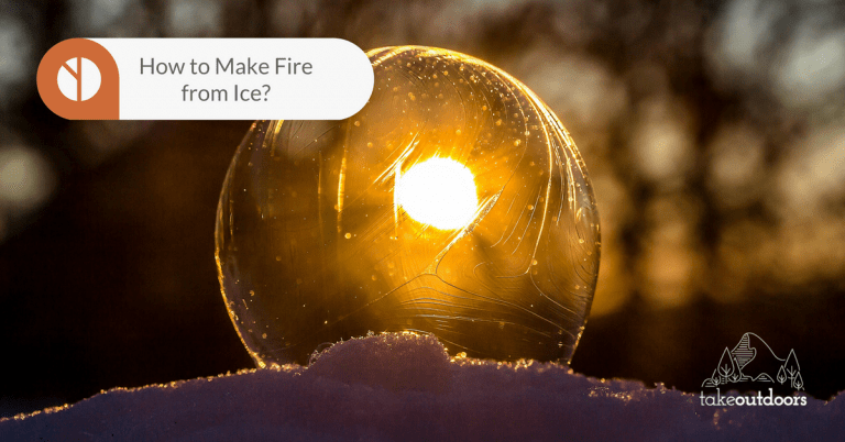 Image of a perfect sphere clear ice with sunlight behind