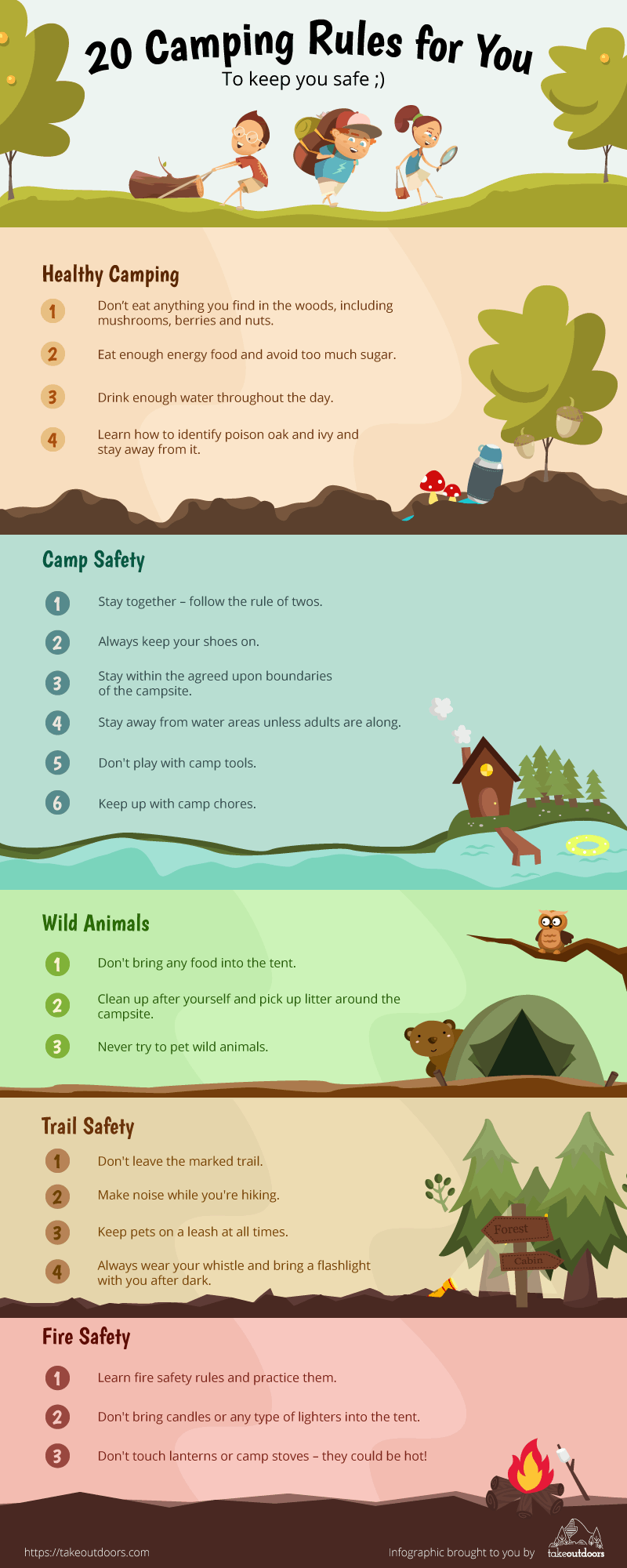 List of Camping Rules for Kids