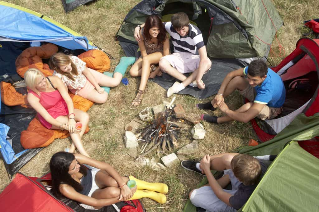 Photo of Young people on camping trip