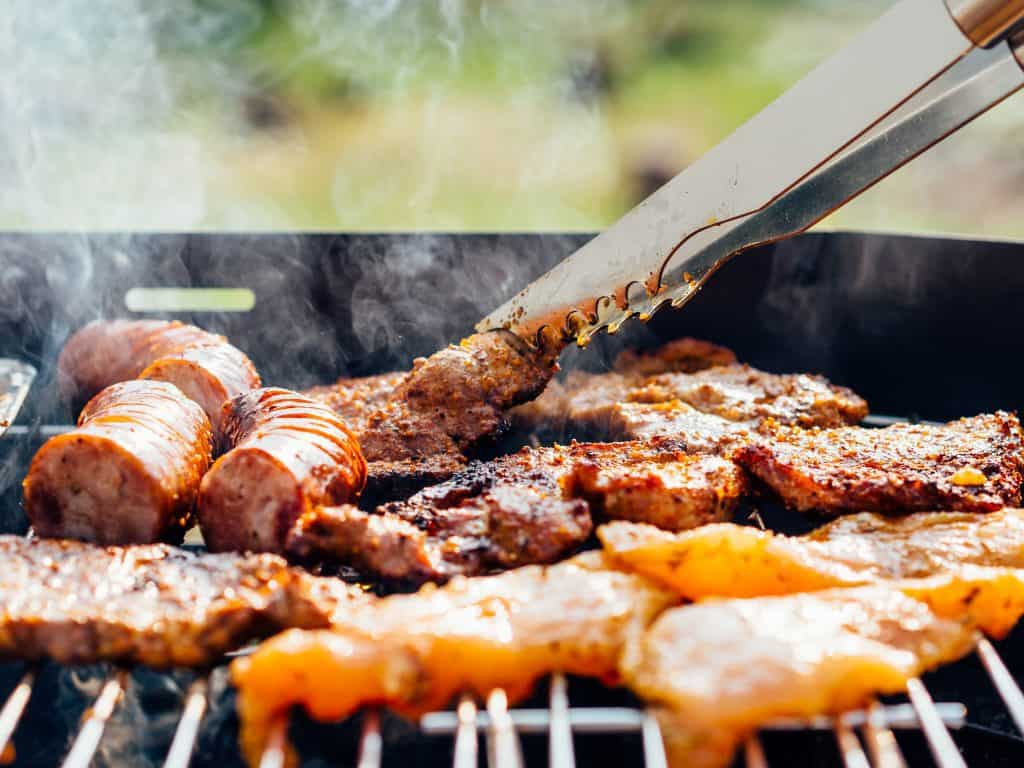 Photo of Delicious meat being grilled