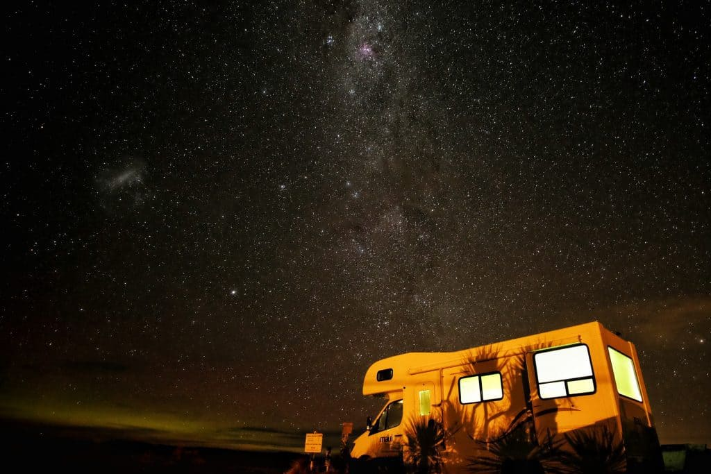 Photo of An RV Under stars