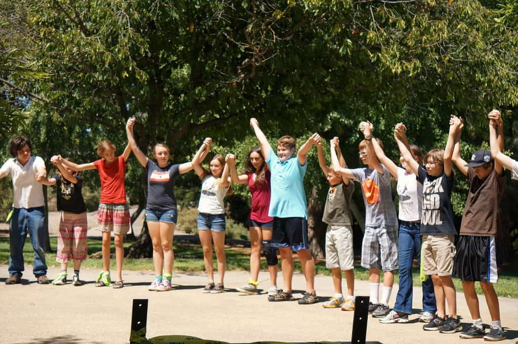 Teenagers in an orientation camp