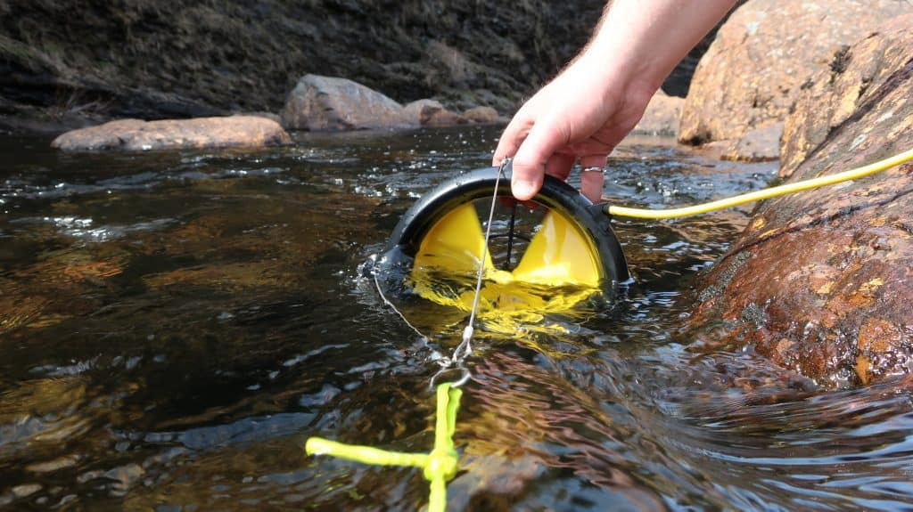 Waterlily Turbine in Action in the Water