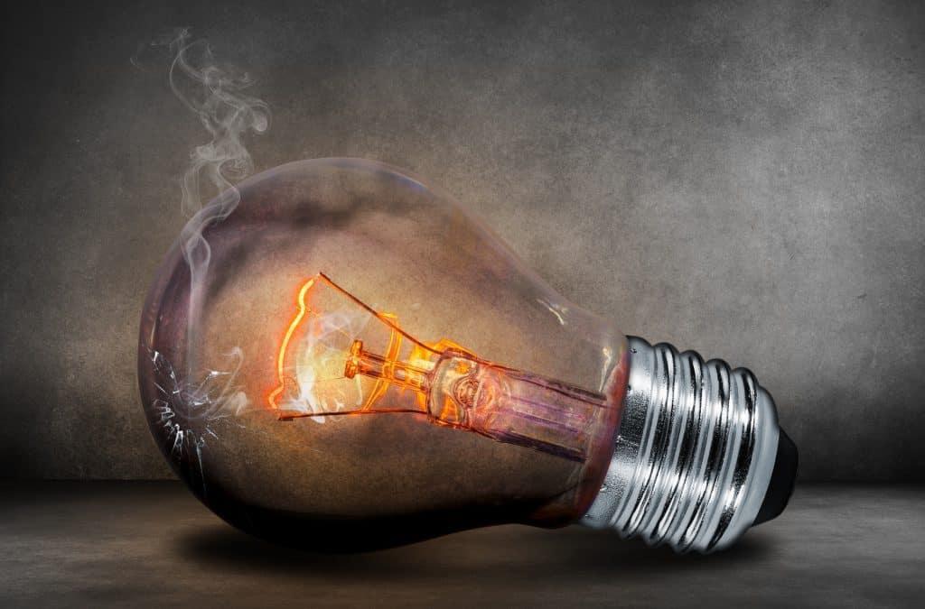 Almost Burnt Light Bulb