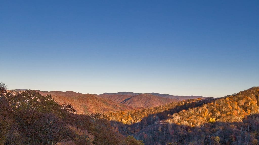 Before Sunset, Fall Great Smoky Mountains By Xiaojia He