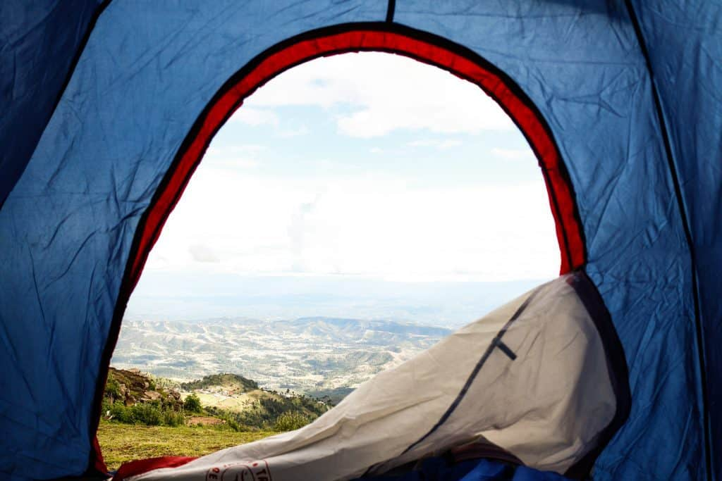 Create Air Flow by Maybe Opening Up the Tent Door