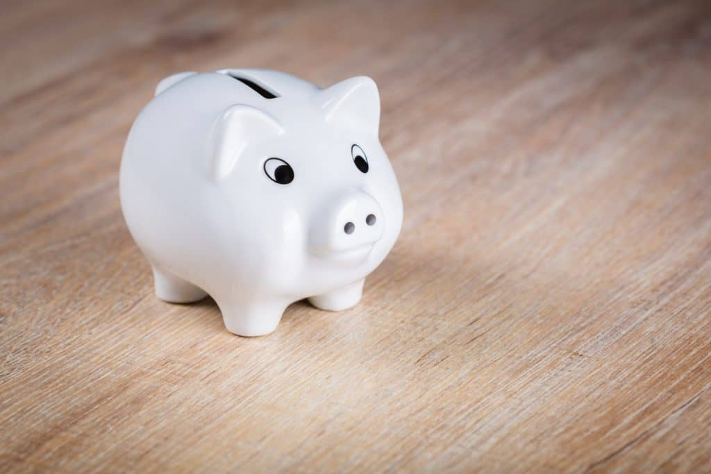 Image of a piggy bank showing budget