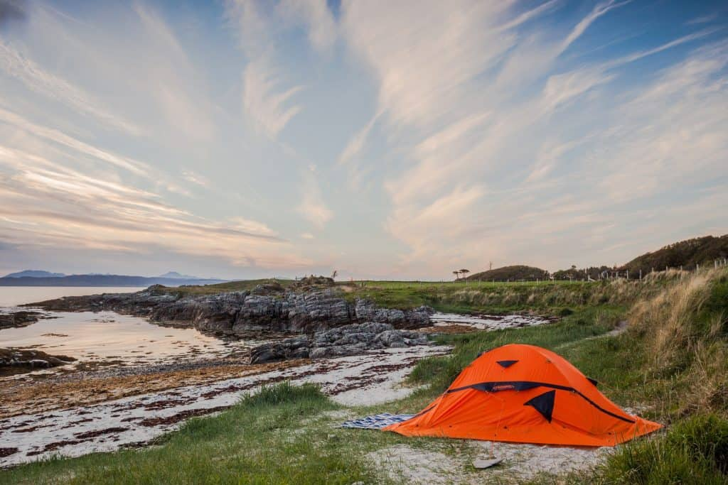 Tent on a highland