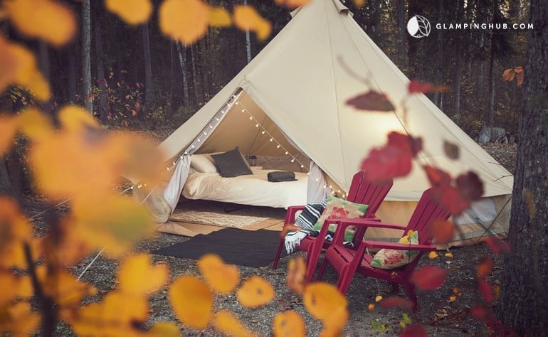 Whimsical and Luxury Camping Tent Set in the Town of Golden, British Columbia - Glamping Hub