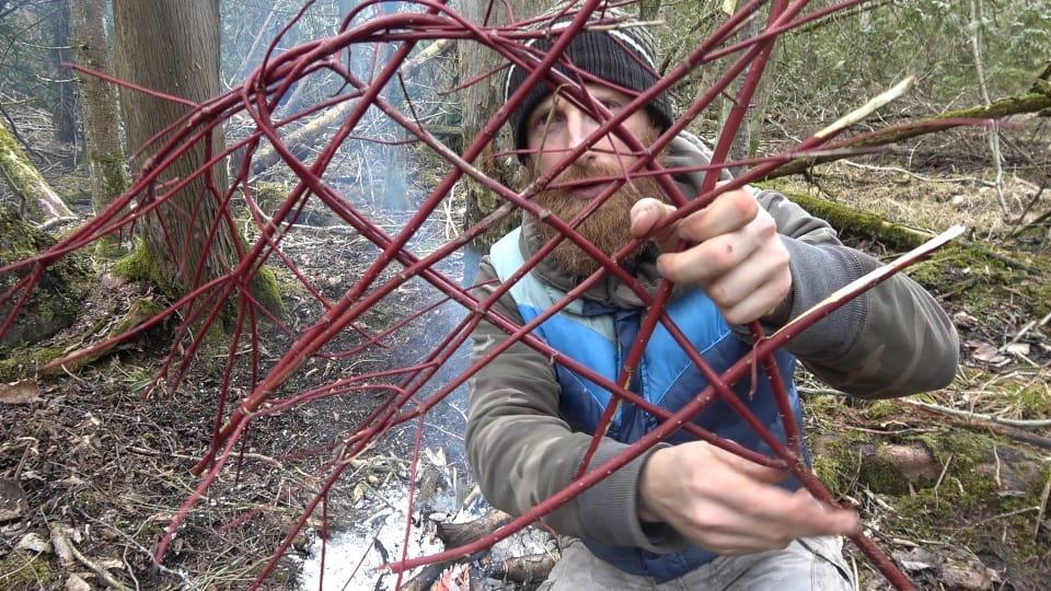 Chris preparing his fish basket