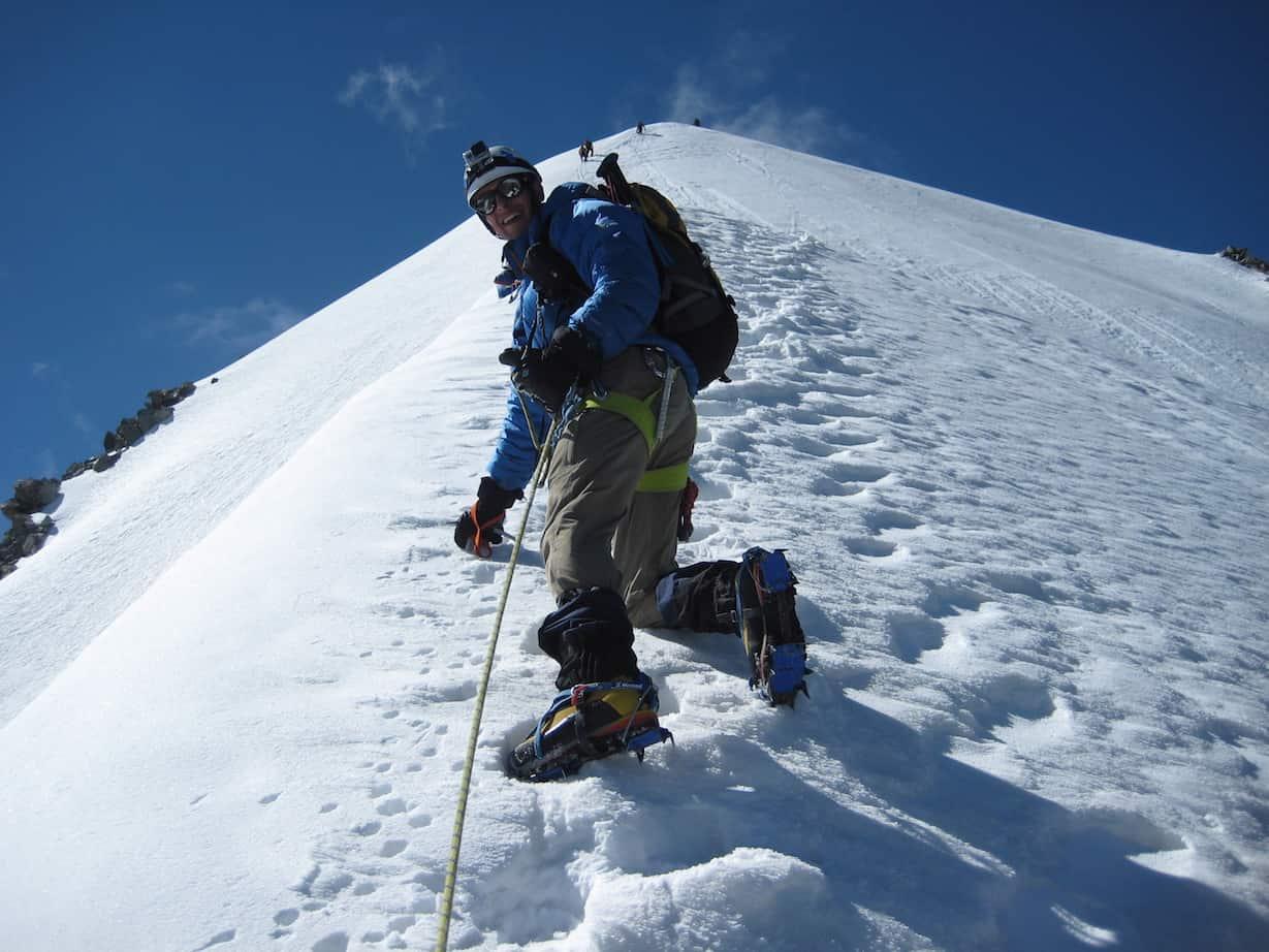 Kieran enjoying his mountain climbing trip!