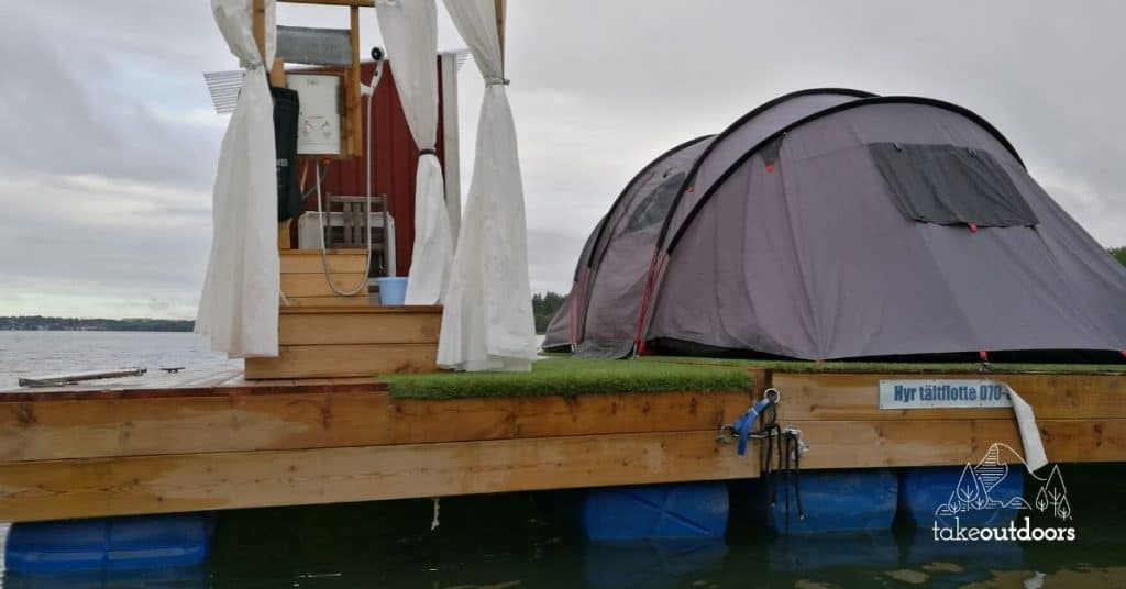My Floating Tent Camping Experience in Sweden