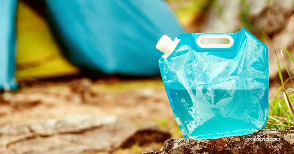 Striking Blue Flexible Water Container for Camping